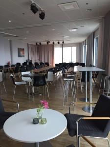 Tärnan och cafét byggt för konsert